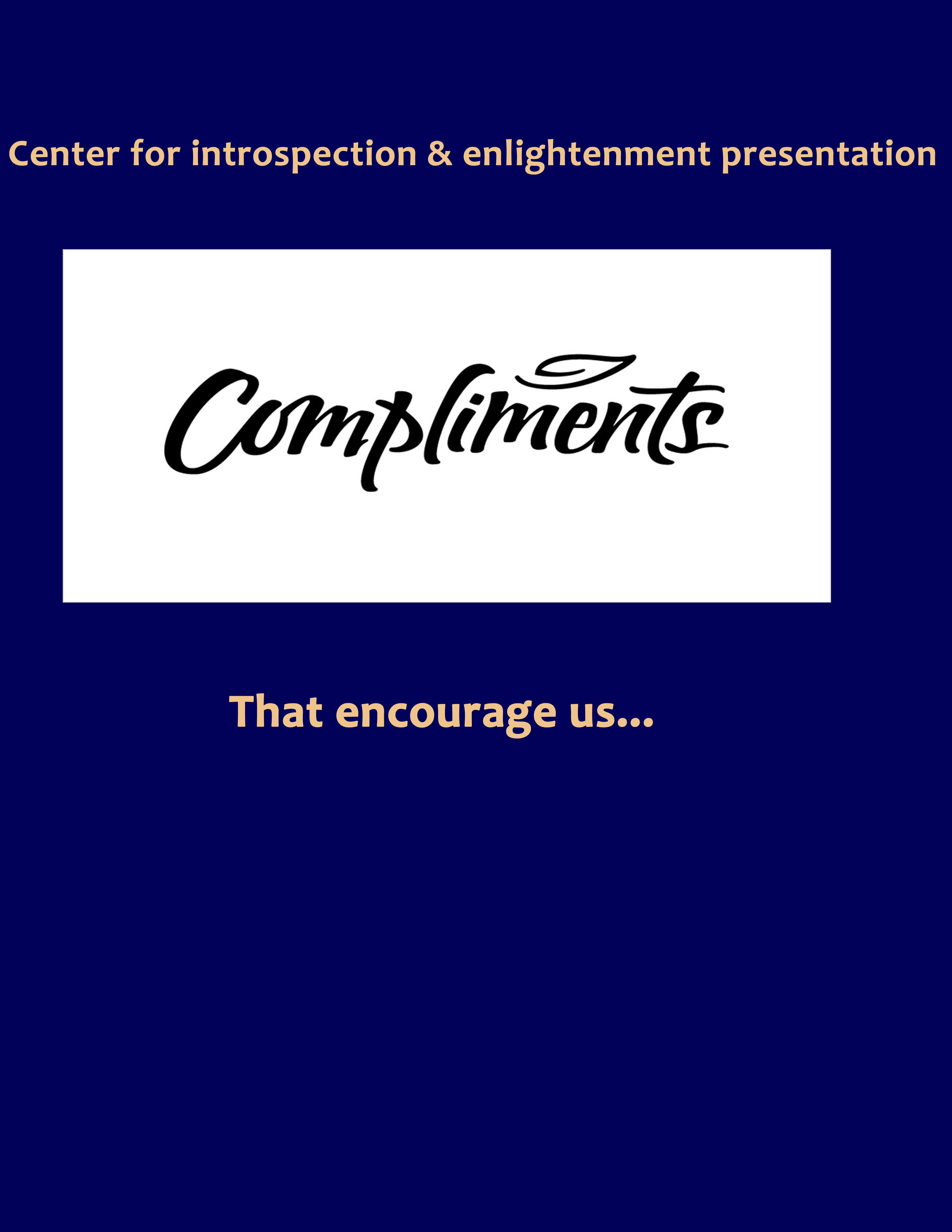 Compliments